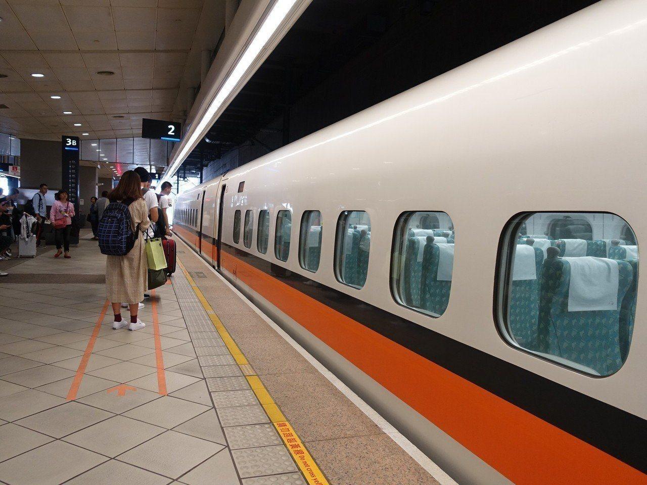 高鐵今天南下9班次、北上12班次列車延誤。聯合報系資料照