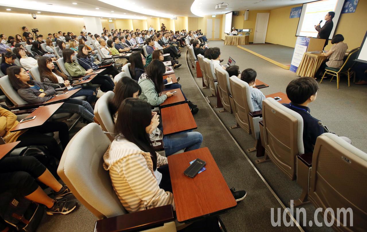 環保署舉辦「環境感測物聯網與產業創新研討會」。記者杜建重/攝影