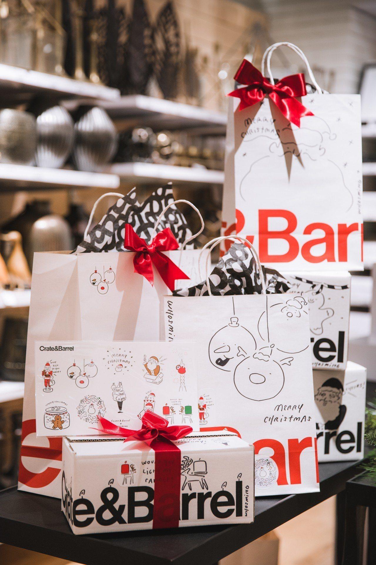 Crate and Barrel與插畫家WHOSMiNG攜手合作,推出獨家聖誕限...