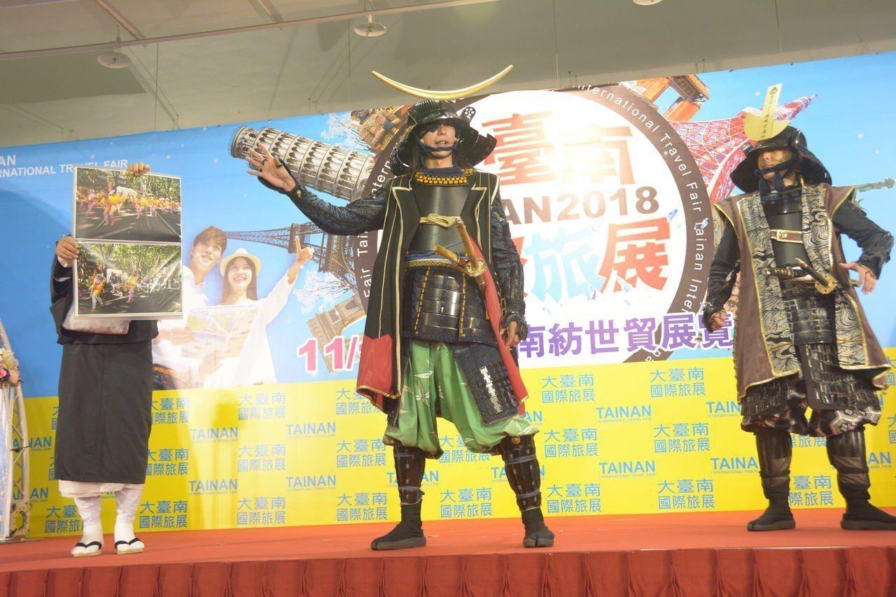 大台南國際旅展今天開幕,日本有12城市參加,其中仙台市宣布為感謝台灣民眾對東北大...