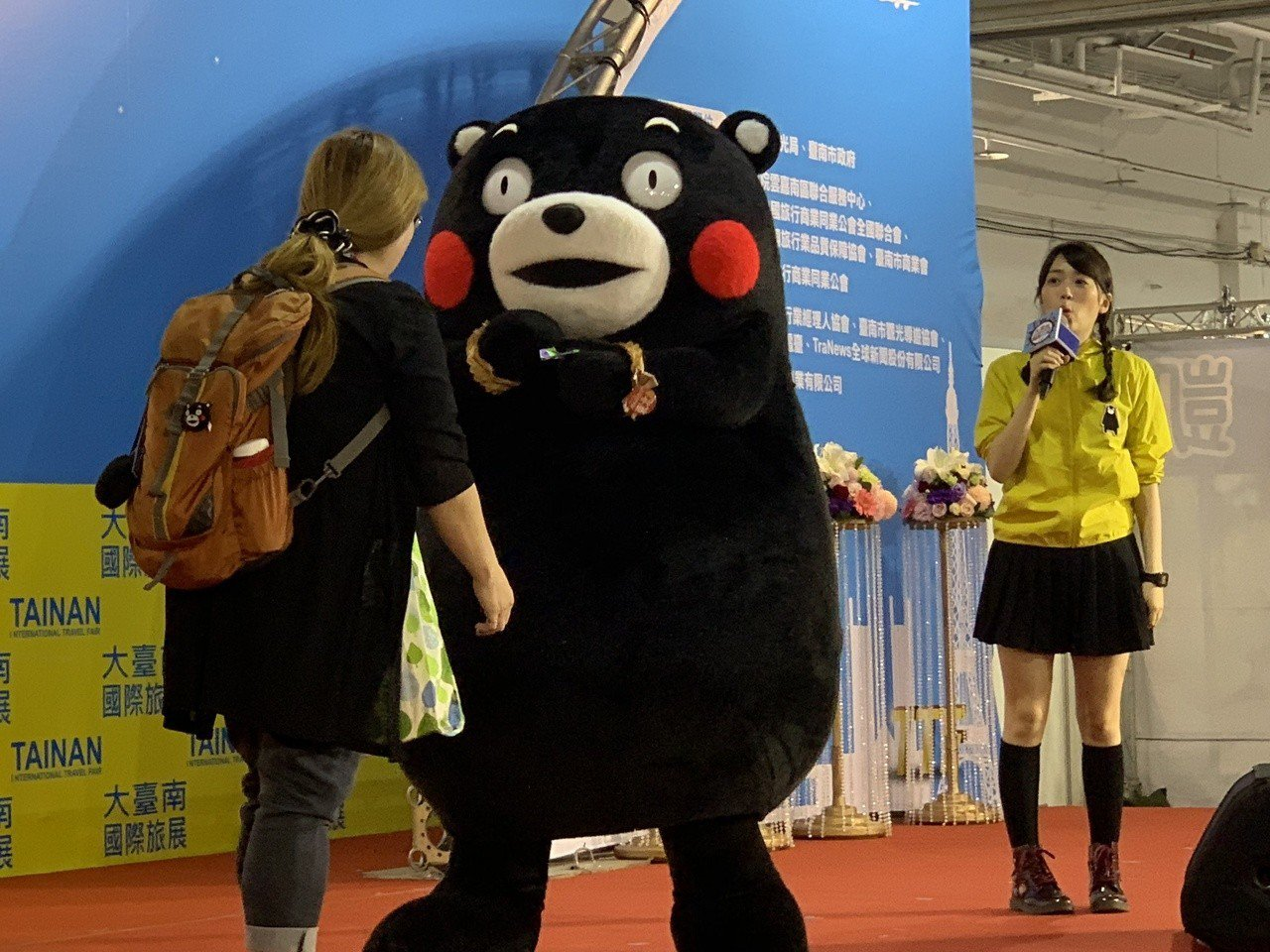 日本熊本熊可愛的表演。記者吳淑玲/攝影