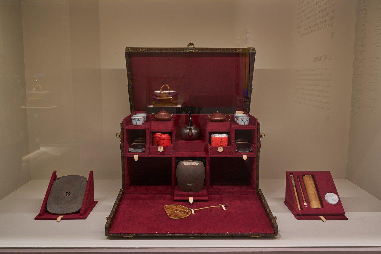 路易威登上海「飛行、航行、旅行」特展可一窺品牌置箱工藝。圖/LV提供