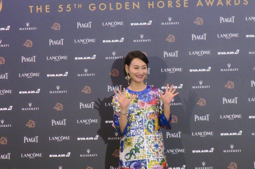 惠英紅今年轉戰金馬獎最佳女配角。記者蘇詠智/攝影
