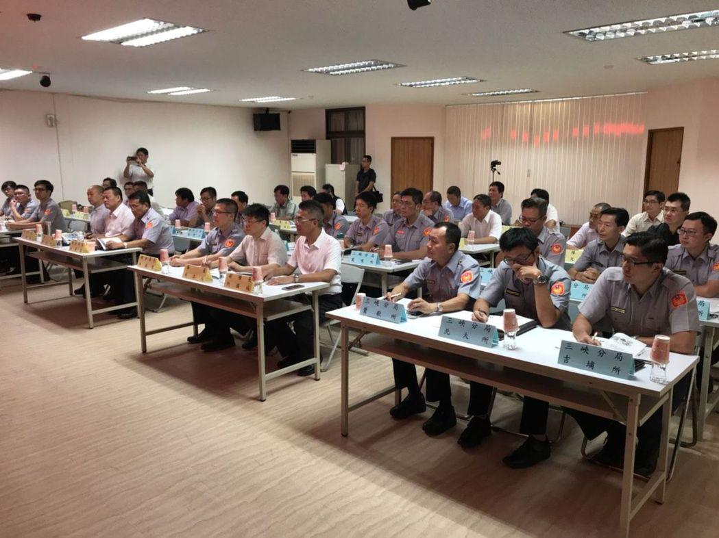 新北市警局8月舉行選舉工作整備會議。 記者袁志豪/翻攝