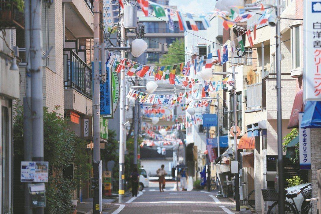 日本東京都港區白金商店街。 本葉國際資產/提供