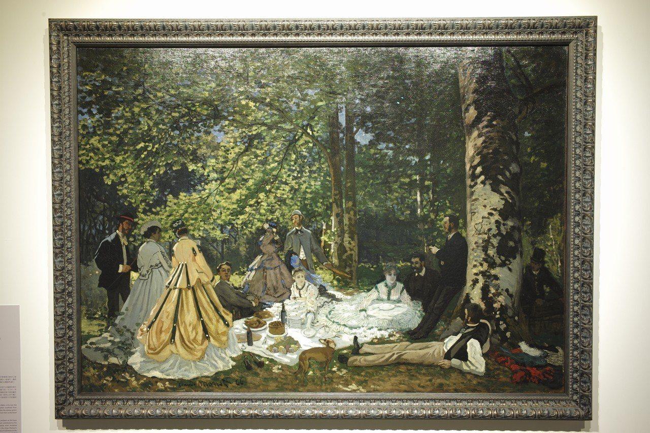 莫內名畫「草地上的午餐」首度來台。聯合數位文創/提供