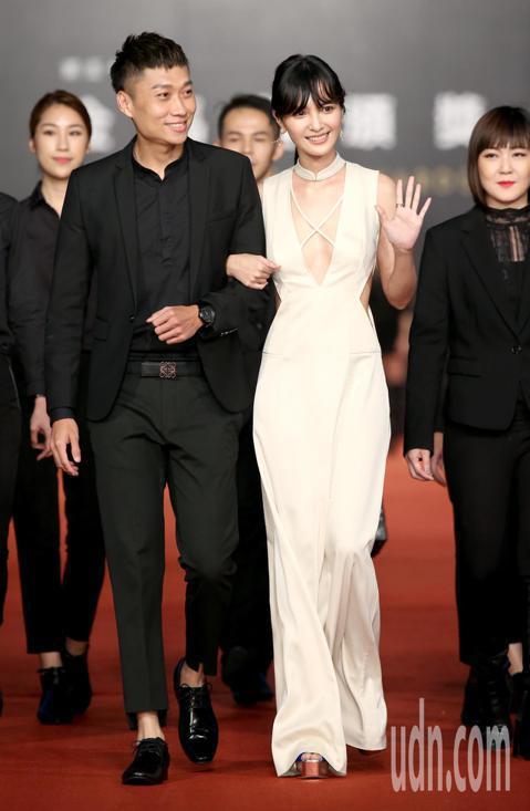 第55屆金馬獎,蘭蔻大使吳子霏走星光大道。