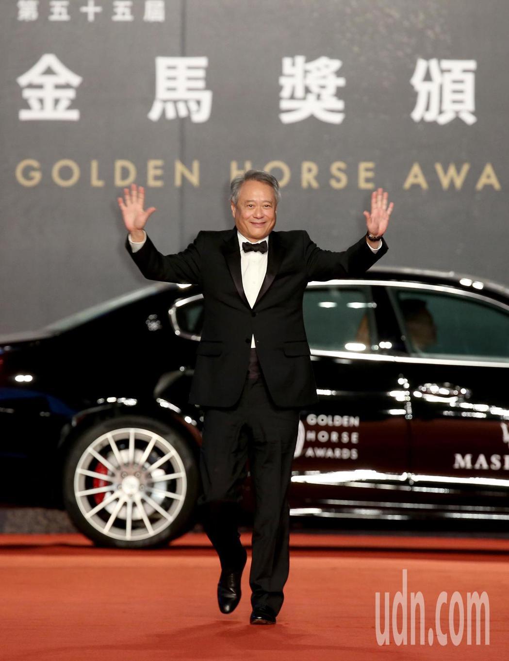 第55屆金馬獎,金馬執委會主席李安走星光大道。記者陳立凱/攝影