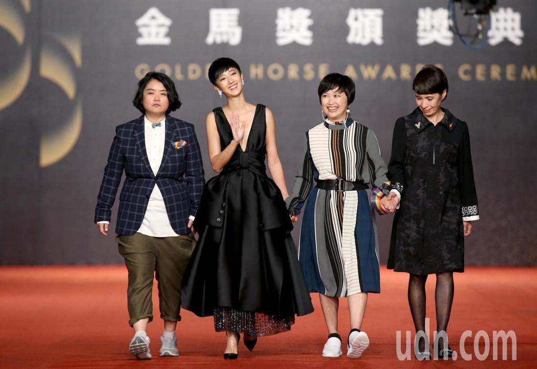 第55屆金馬獎,桂綸鎂(左二)走星光大道。記者陳立凱/攝影