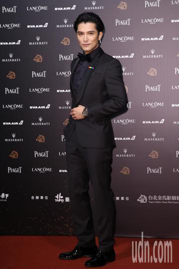 第55屆金馬獎頒獎典禮在國父紀念館舉行,邱澤、謝盈萱走星光大道。