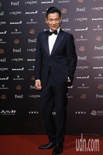 第55屆金馬獎頒獎典禮在國父紀念館舉行,劉德華走星光大道。