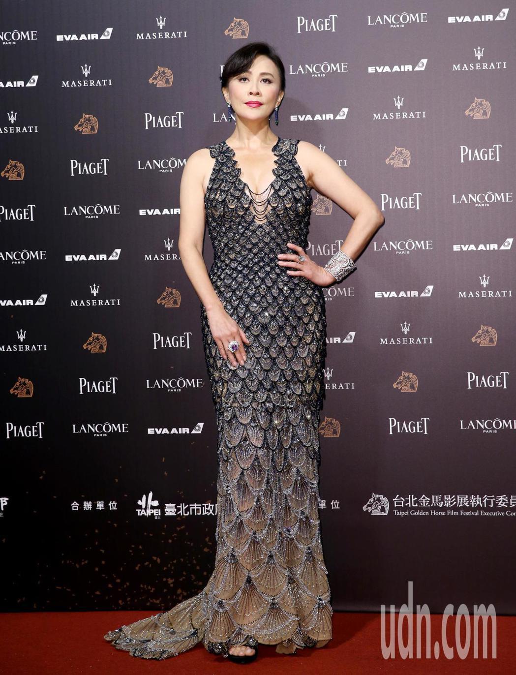 第55屆金馬獎頒獎典禮在國父紀念館舉行,劉嘉玲走星光大道。記者鄭清元/攝影