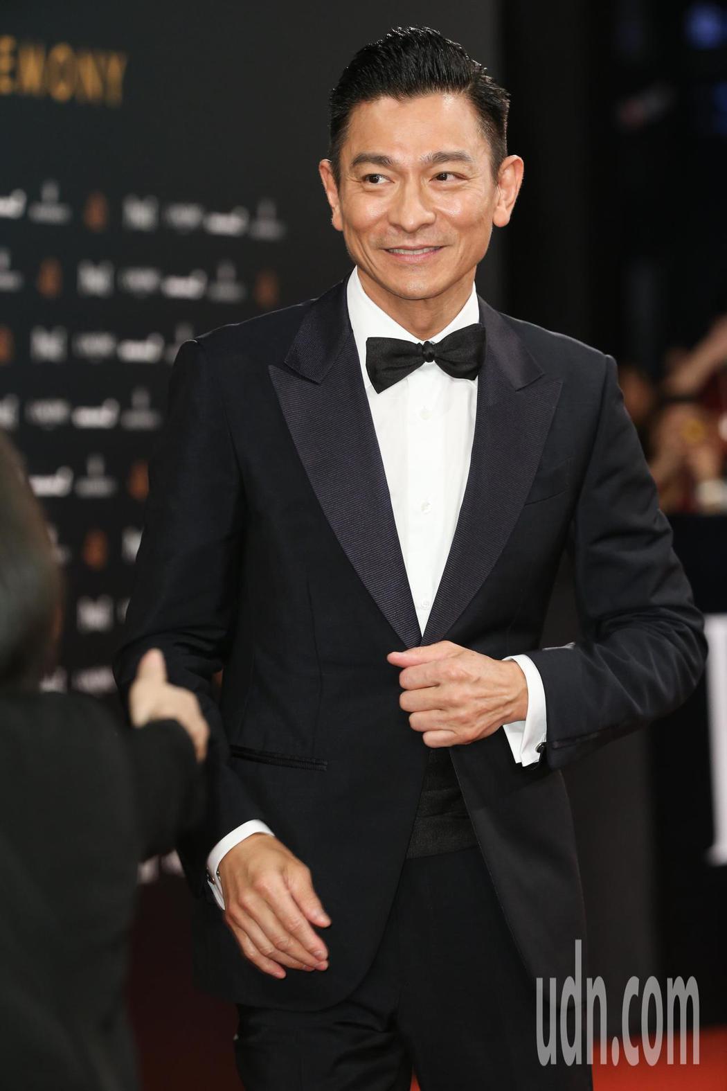 第55屆金馬獎頒獎典禮在國父紀念館舉行,劉德華走星光大道。記者陳立凱/攝影