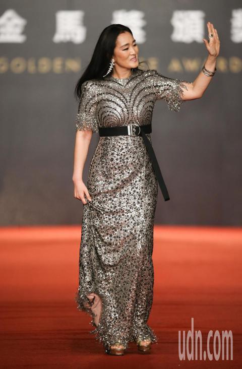 第55屆金馬獎頒獎典禮在國父紀念館舉行,鞏俐走星光大道。