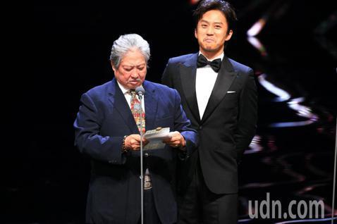 第55屆金馬獎頒獎典禮,洪金寶、鄧超擔任頒獎人。