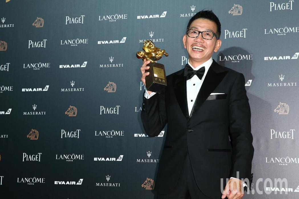 第55屆金馬獎頒獎典禮,袁富華獲最佳男配角。記者葉信菉/攝影