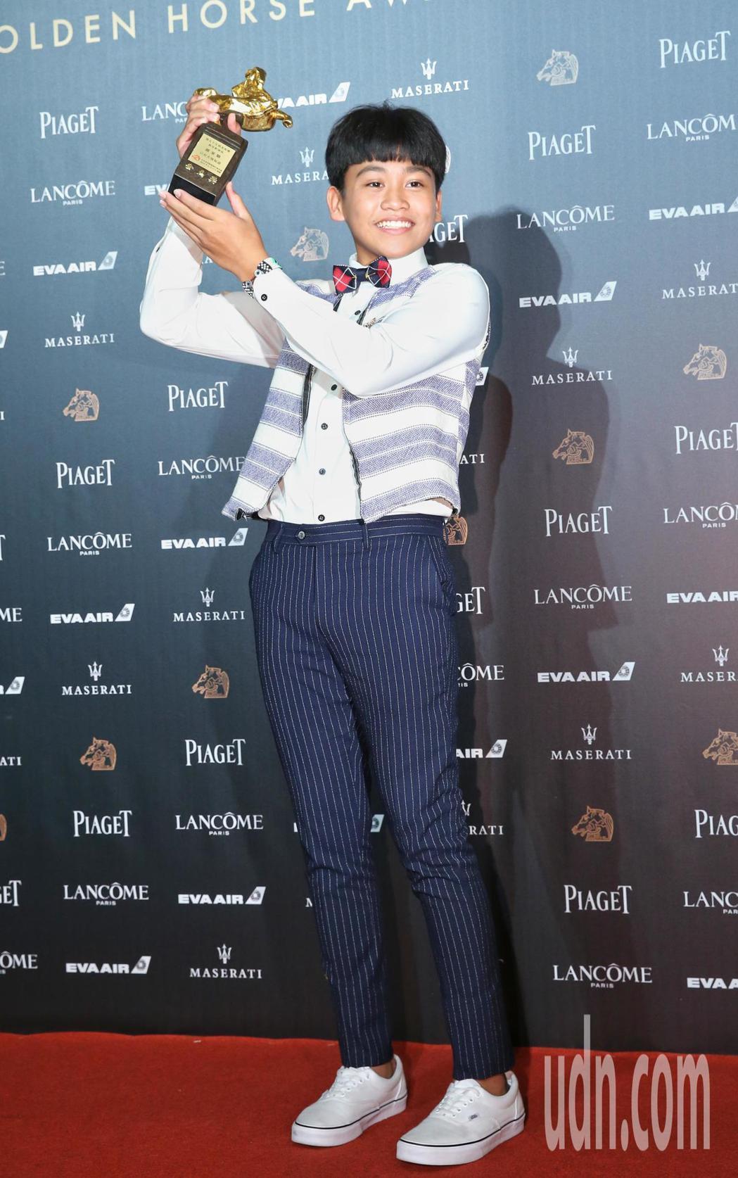 第55屆金馬獎頒獎典禮,最佳新演員由鍾家駿以「只有大海知道」獲得。記者鄭清元/攝...