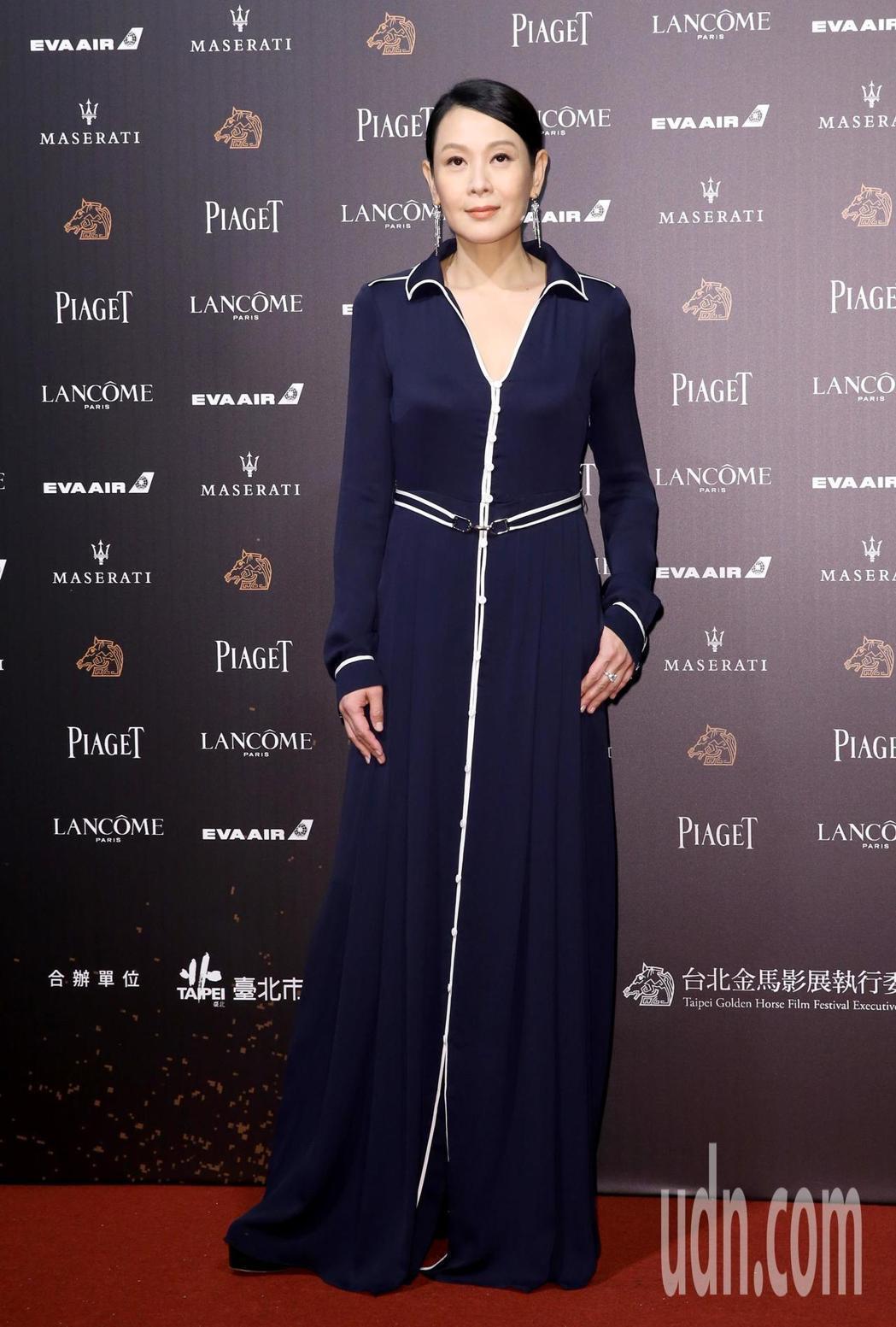 第55屆金馬獎頒獎典禮在國父紀念館舉行,劉若英走星光大道。記者鄭清元/攝影