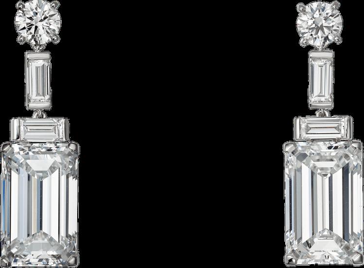 趙濤配戴卡地亞祖母綠切割鑽石耳環,售價3760萬元。圖/卡地亞提供