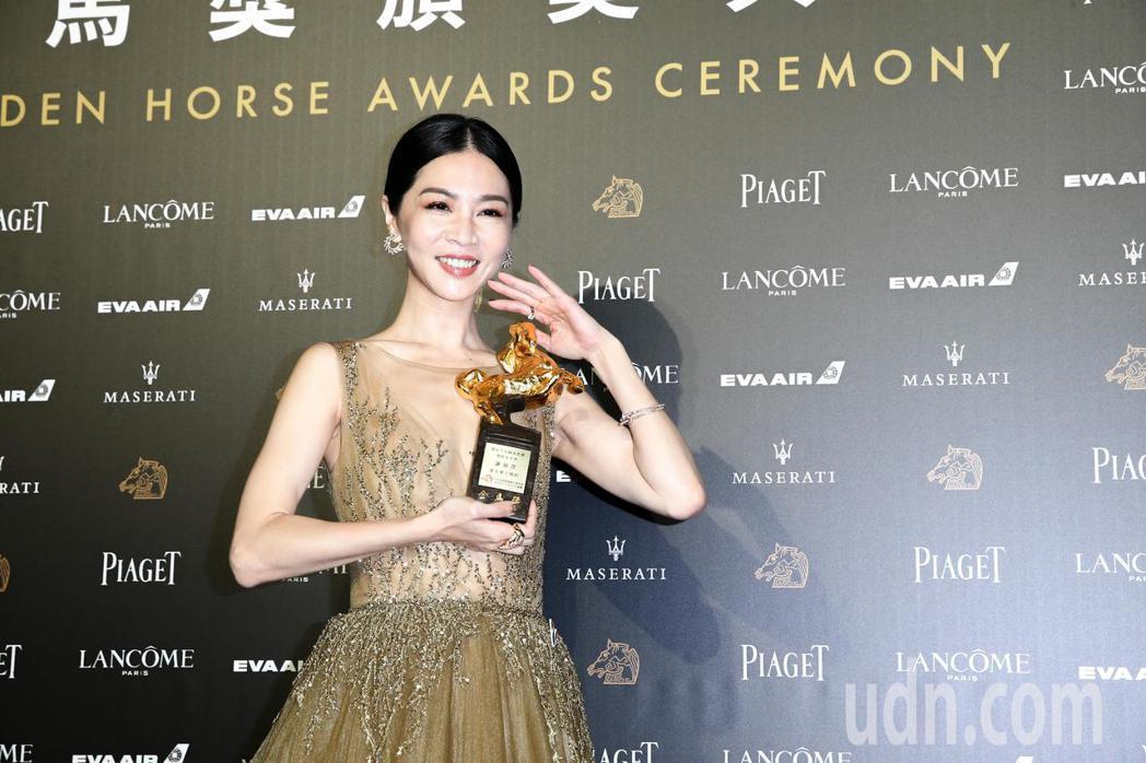 第55屆金馬獎,謝盈萱奪影后。記者葉信菉/攝影