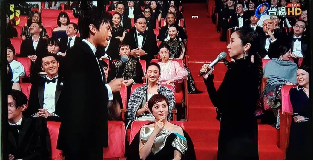 陶晶瑩在孫儷、周迅面前問鄧超「誰該得影后?」圖/翻攝自台視