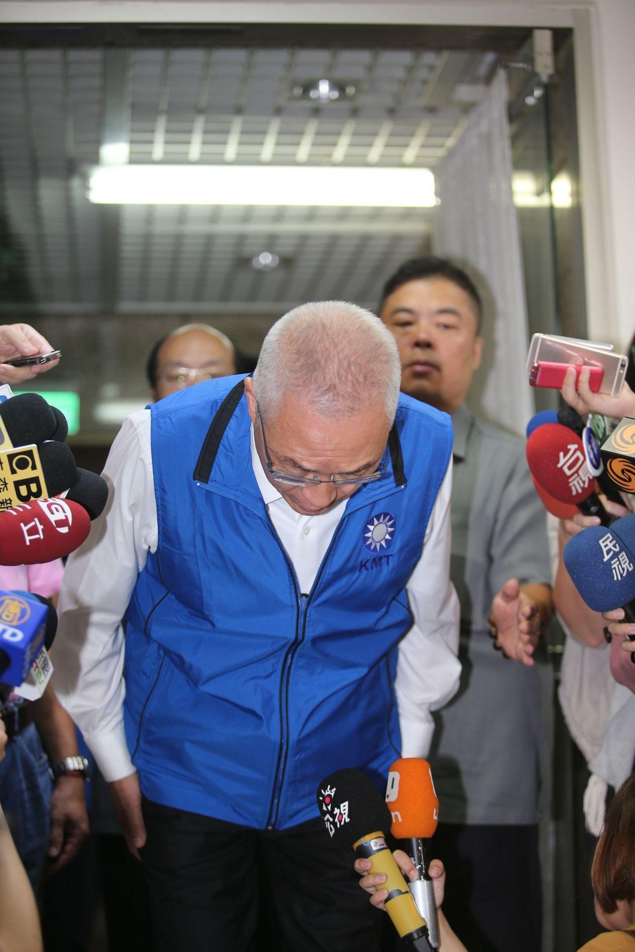 國民黨主席吳敦義為失言道歉。記者陳正興/攝影