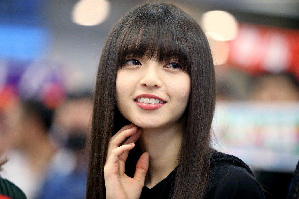 日本女子偶像團體 「乃木�」成員齋藤飛鳥來台。記者余承翰/攝影 余承翰