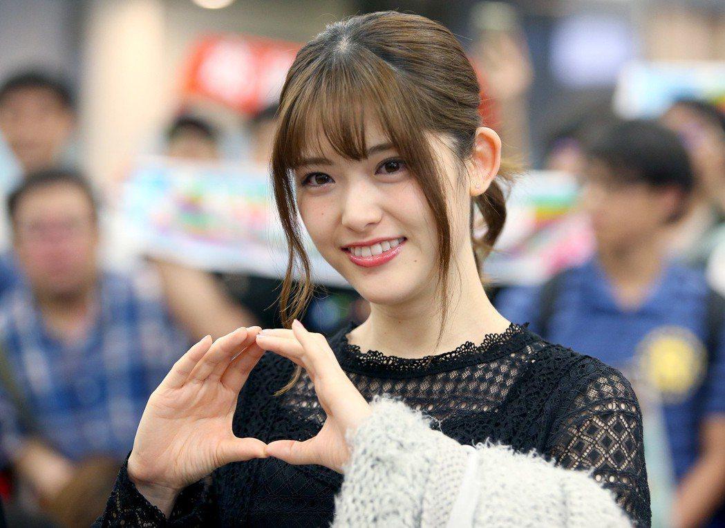 日本女子偶像團體 「乃木�」成員松村沙友理來台。記者余承翰/攝影 余承翰
