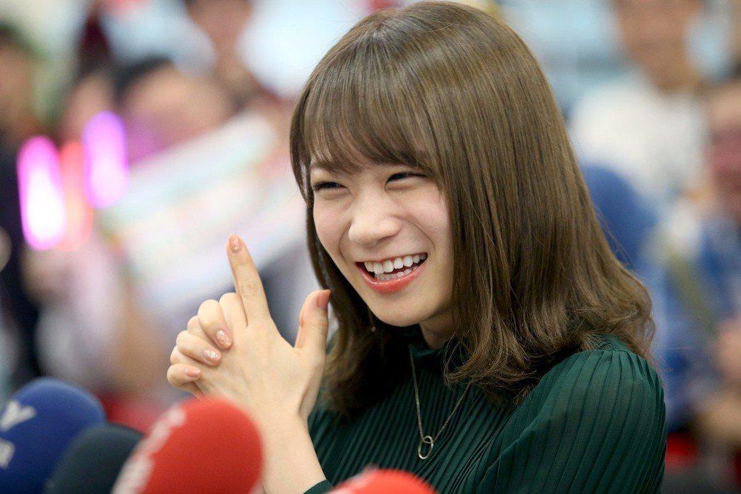 日本女子偶像團體 「乃木�」成員秋元真夏來台。記者余承翰/攝影 余承翰