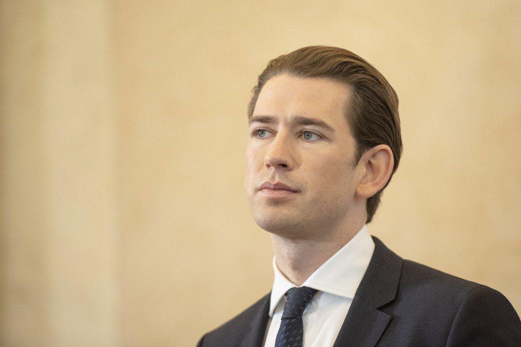 奧地利總理庫爾茨9日召開記者會指出,一名退役上校為俄國提供情報逾20年。(歐新社...