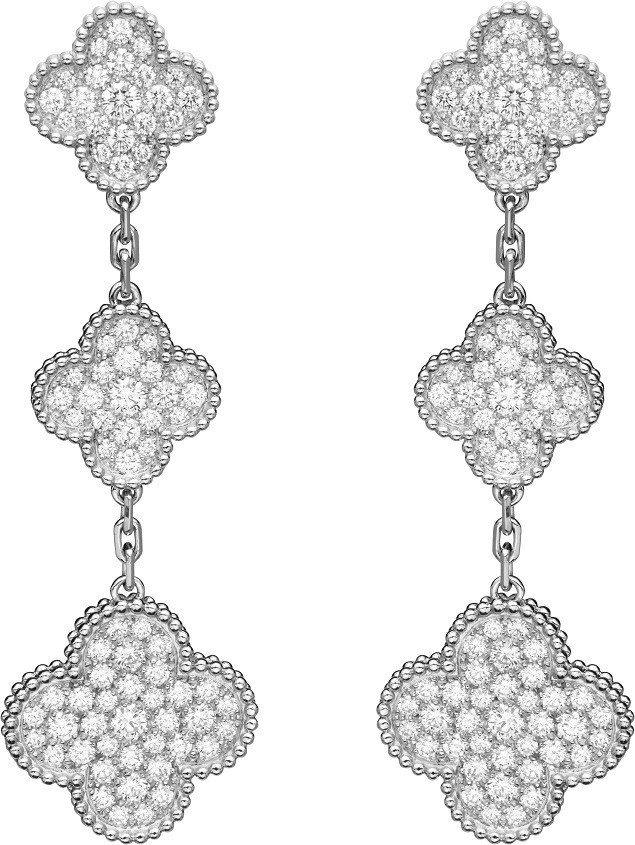 Van Cleef & Arpels - Magic Alhambra耳環。圖/...
