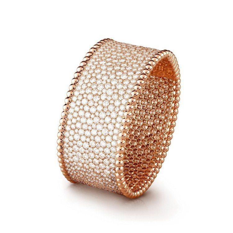 Perlee鑽石手鐲(玫瑰金)。圖/Van Cleef & Arpels提供