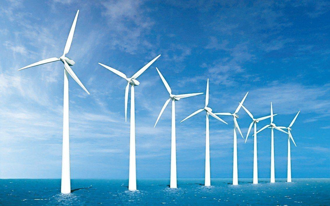 在台離岸風電開發商達德能源(Wpd),有意釋出49%股權。圖為離岸風電示意圖。 ...