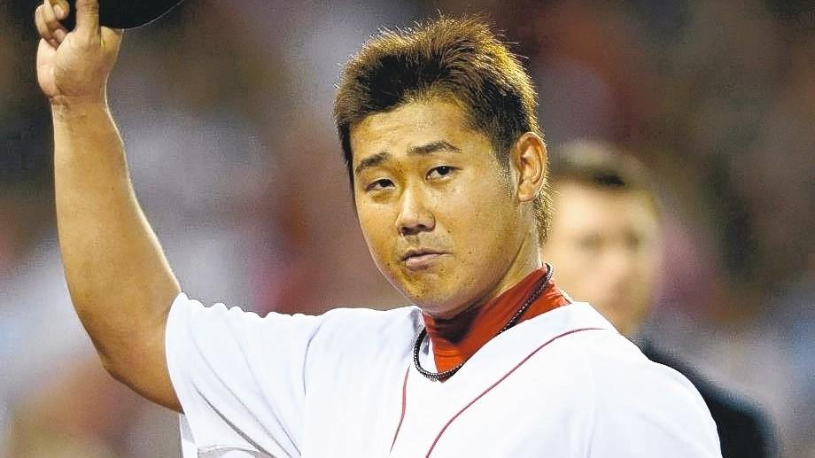 松坂大輔今年投出6勝4敗、防禦率3.74的成績,獲得東山再起獎。 歐新社