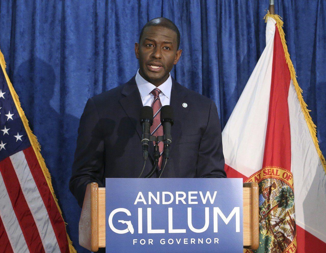 佛州塔拉哈西(Tallahassee)自由派市長吉倫(Andrew Gillum...
