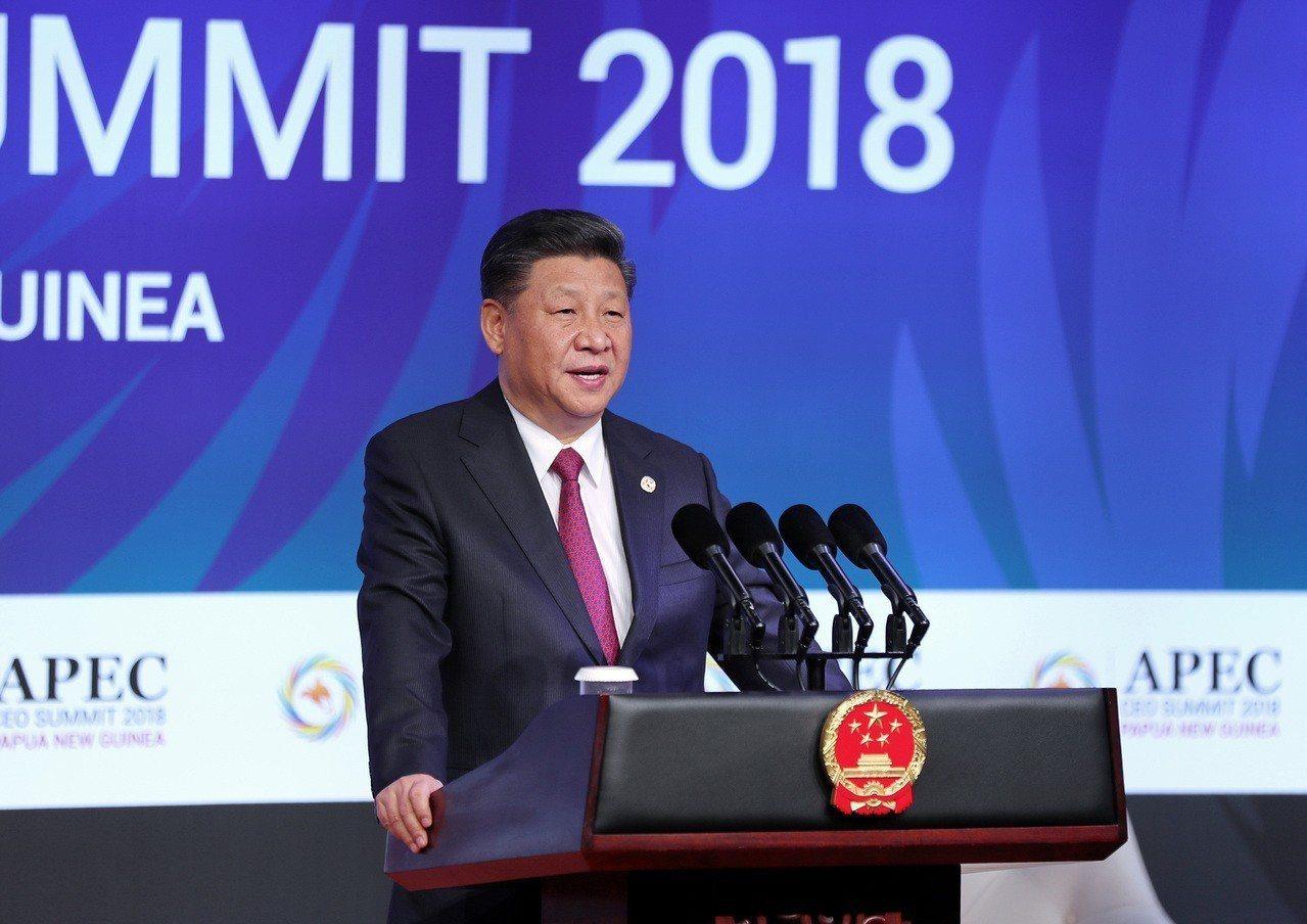 中國國家主席習近平今天在亞太經合會中演講表示,共建「一帶一路」進入深入發展新階段...