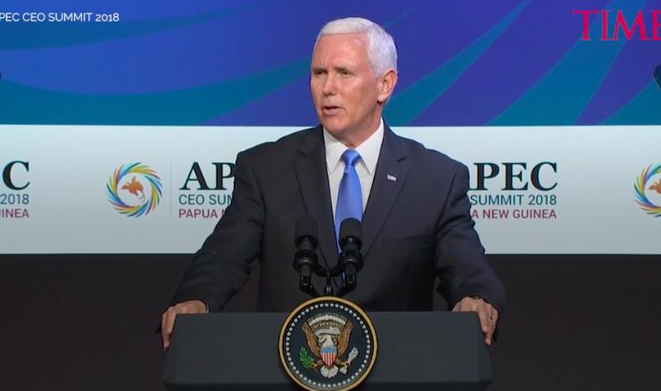 APEC高峰會落幕,但因中美兩大龍頭會談無解,沒能產出領導人聲明,圖為美國副總統...