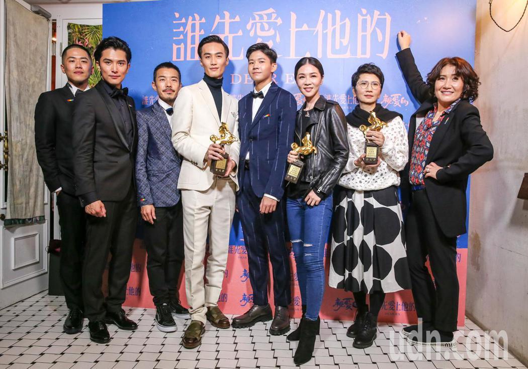 「誰先愛上他的」劇組凌晨舉行慶功宴。記者鄭清元/攝影