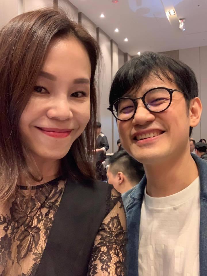 陳建騏(右)曾和彭佳慧合作。圖/摘自臉書