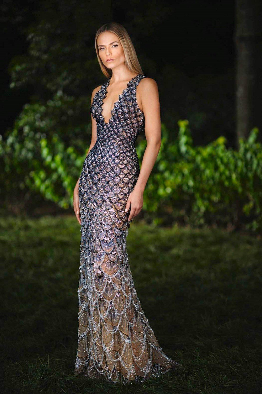 Versace 2018秋冬高級訂製禮服。圖/Versace提供