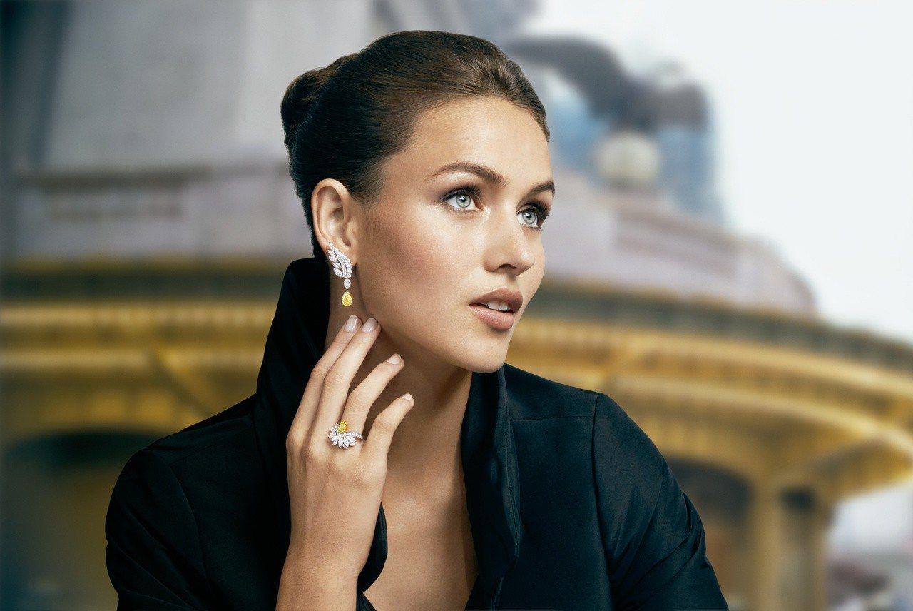 海瑞溫斯頓New York系列中的Eagle頂級珠寶作品。圖/海瑞溫斯頓提供