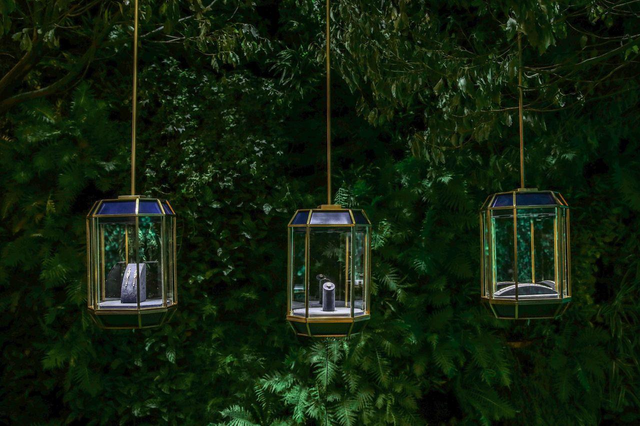 海瑞溫斯頓從紐約中央公園找到靈感,作品充滿繽紛色彩。圖/海瑞溫斯頓提供