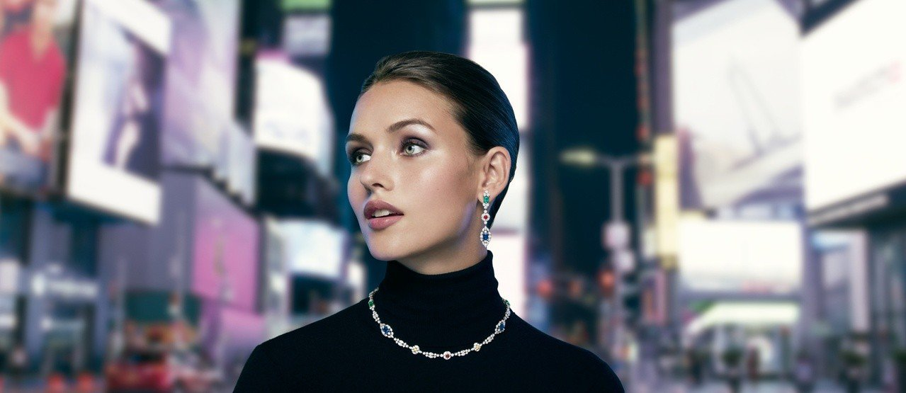 海瑞溫斯頓New York系列中的City Lights 頂級珠寶作品。。圖/海...