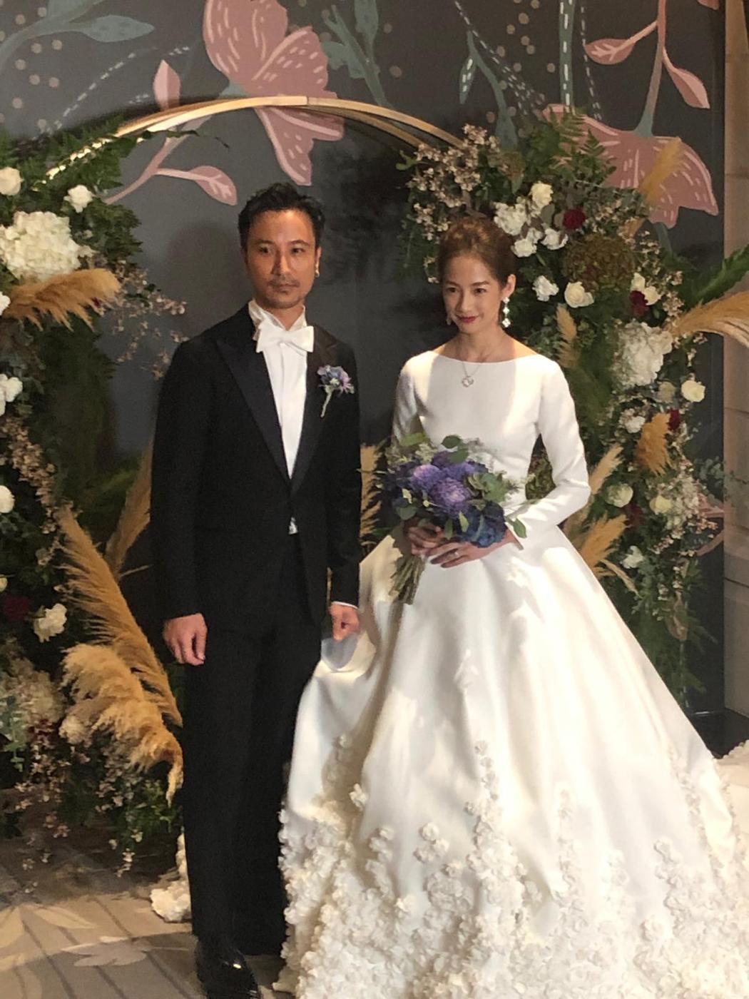 簡嫚書與雲昌隆昨日在東方文華飯店舉辦婚禮。記者陳建嘉攝