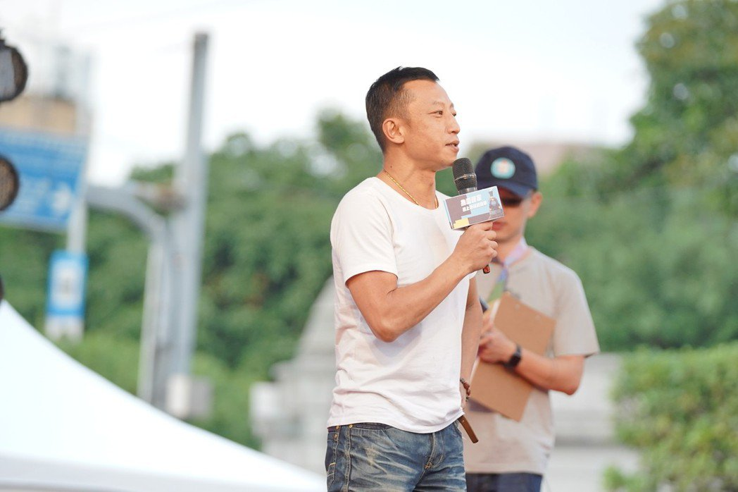 楊雅喆到場信心喊話。圖/婚姻平權大平台提供