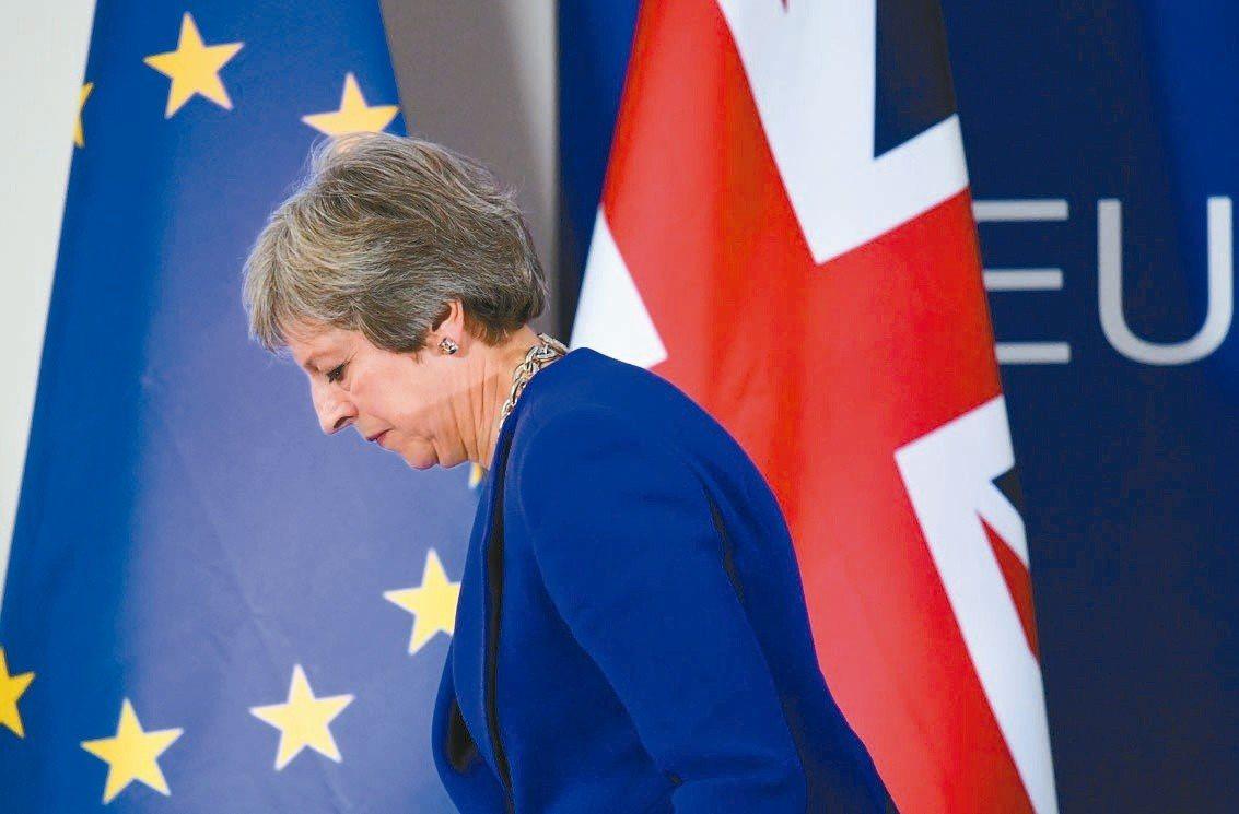 英國首相梅伊。歐新社