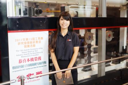 第二代劉怡婷在國外學的是企管、卻相當投入刀庫的行銷開發。 吉輔/提供