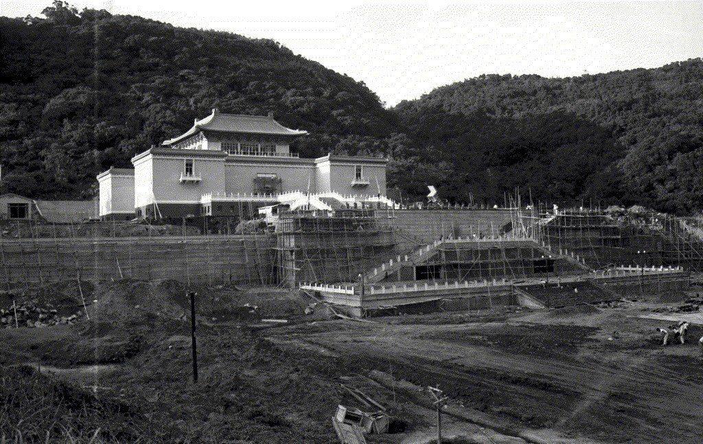 1965年興建中的故宮。 圖/聯合報系資料照