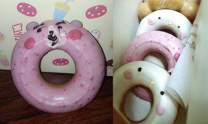 之前台灣推出卡娜赫拉甜甜圈時,也常有「崩壞版」出現。 圖片來源/ Dcard