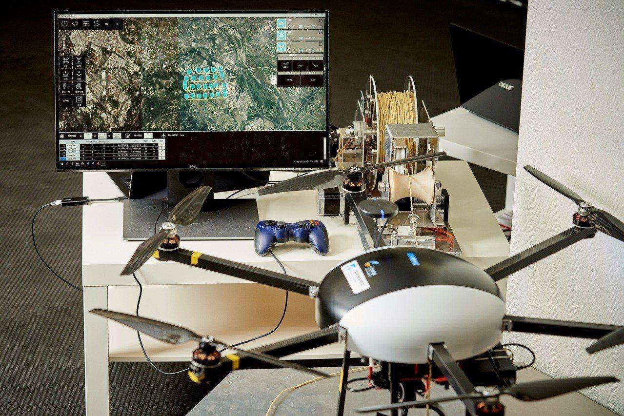 在經濟部技術處科技專案支持下,工研院與警政署合作發展出同時操控多架無人機的管理系...